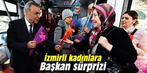 İzmirli kadınlar, güne Başkan sürprizi ile başladı