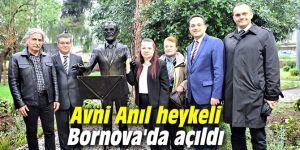 Avni Anıl heykeli Bornova'da açıldı