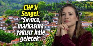 """CHP'li Sengel: """"Şirince, markasına yakışır hale gelecek"""""""