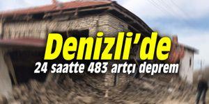 Denizli'de 24 saatte 483 artçı deprem