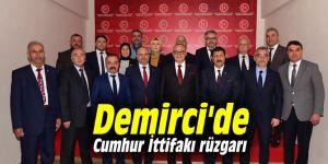 Demirci'de Cumhur İttifakı rüzgarı