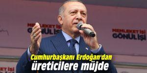 Cumhurbaşkanı Erdoğan'dan üreticilere müjde