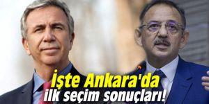 İşte Ankara'da ilk seçim sonuçları!