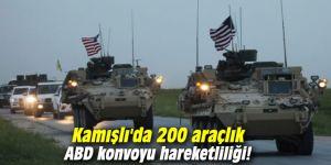 Kamışlı'da 200 araçlık ABD konvoyu hareketliliği!