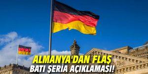 Almanya'dan flaş Batı Şeria açıklaması!