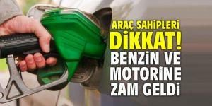 Araç sahipleri dikkat! Benzin ve motorine zam geldi!