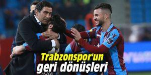 Trabzonspor geriye düştüğü maçlardan 11 puan çıkardı