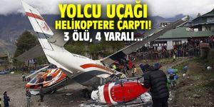 Yolcu uçağı helikoptere çarptı! 3 ölü, 4 yaralı