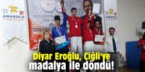 Diyar Eroğlu, Çiğli'ye madalya ile döndü!