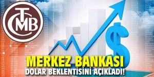 Merkez Bankası yıl sonu dolar beklentisini açıkladı!