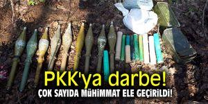 PKK'ya darbe! Çok sayıda mühimmat ele geçirildi