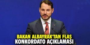 Bakan Albayrak'tan flaş konkordato açıklaması