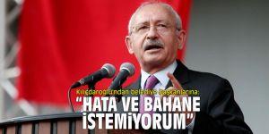 """Kılıçdaroğlu'ndan belediye başkanlarına: """"Hata ve bahane istemiyorum"""""""