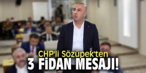 CHP'li Sözüpek'ten 3 fidan mesajı