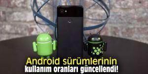 Android sürümlerinin kullanım oranları güncellendi!