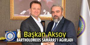 Başkan Aksoy Bartholomeos Samaras'ı ağırladı