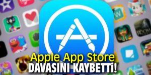Apple App Store davasını kaybetti!