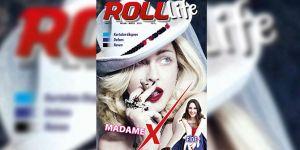 ABD'li şarkıcı Madonna Roll Life'ın kapağında