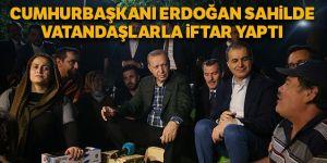 Erdoğan, Zeytinburnu Sahili'nde vatandaşlarla çay içti