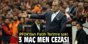 PFDK'dan Fatih Terim'e şok! 3 maç men cezası...