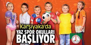 Karşıyaka'da yaz spor okulları başlıyor