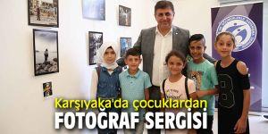 Karşıyaka'da çocuklardan sergi