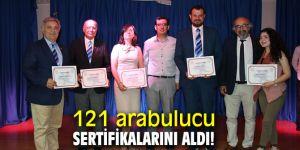 121 arabulucu sertifikalarını aldı!