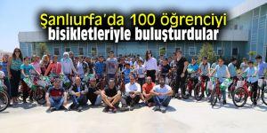 Şanlıurfa'da 100 öğrenciyi bisikletleriyle buluşturdular
