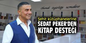 Şehit kütüphanelerine Sedat Peker'den kitap desteği