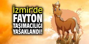 İzmir'de fayton taşımacılığı yasaklandı!