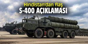 Hindistan'dan flaş S-400 açıklaması