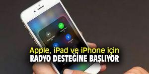 iPad ve iPhone'a radyo desteği geliyor