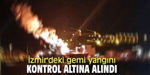 İzmir'deki gemi yangını kontrol altına alındı