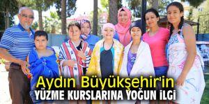 Aydın Büyükşehir'in yüzme kurslarına yoğun ilgi