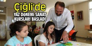 Çiğli'de yaz dönemi sanat kursları başladı