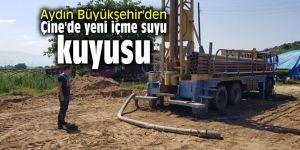 Aydın Büyükşehir'den Çine'de yeni içme suyu kuyusu