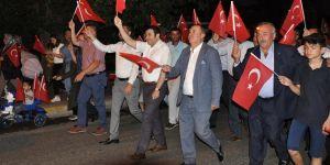 TİRE'DEMOKRASİ ZAFERİ PROGRAMINA BÜYÜK KATILIM