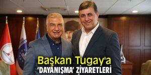 Başkan Tugay'a Başkan Engin ve Cevat Durak'tan ziyaret!