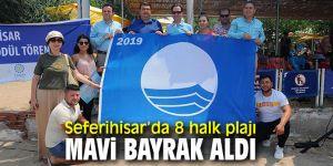 Seferihisar'ın plajlarına Mavi Bayrak!
