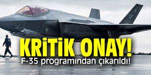 Kritik onay! F-35 programından çıkarıldı!