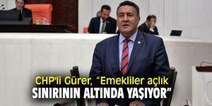 CHP'li Gürer, emeklilerin sorunlarını sordu!