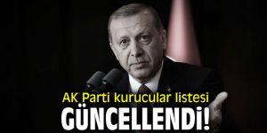 Erdoğan talimat vermişti; AK Parti kurucular listesi güncellendi!