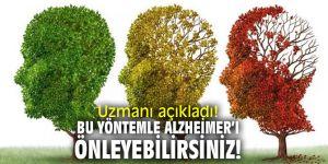 Uzmanı açıkladı! Bu yöntemle Alzheimer'ı önleyebilirsiniz!