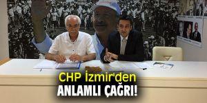 Cumhuriyet Halk Partisi İzmir İl Başkanlığı'ndan çağrı!