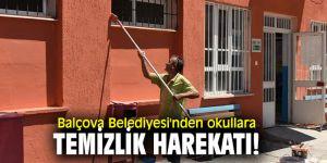 Balçova Belediyesi'nden okullara temizlik harekatı!