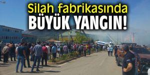 Silah fabrikasında büyük yangın! Bakan Kurum açıklama yaptı