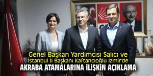 Genel Başkan Yardımcısı Salıcı İzmir'de! Belediyelerdeki akraba atamalarına ilişkin açıklama!