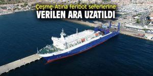 Çeşme-Atina feribot seferlerinde değişiklik