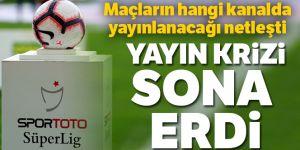 Süper Lig maçlarının yayın hakları için anlaşmaya vardı.