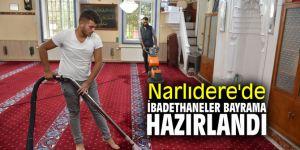 Narlıdere'de ibadethaneler bayrama hazırlandı